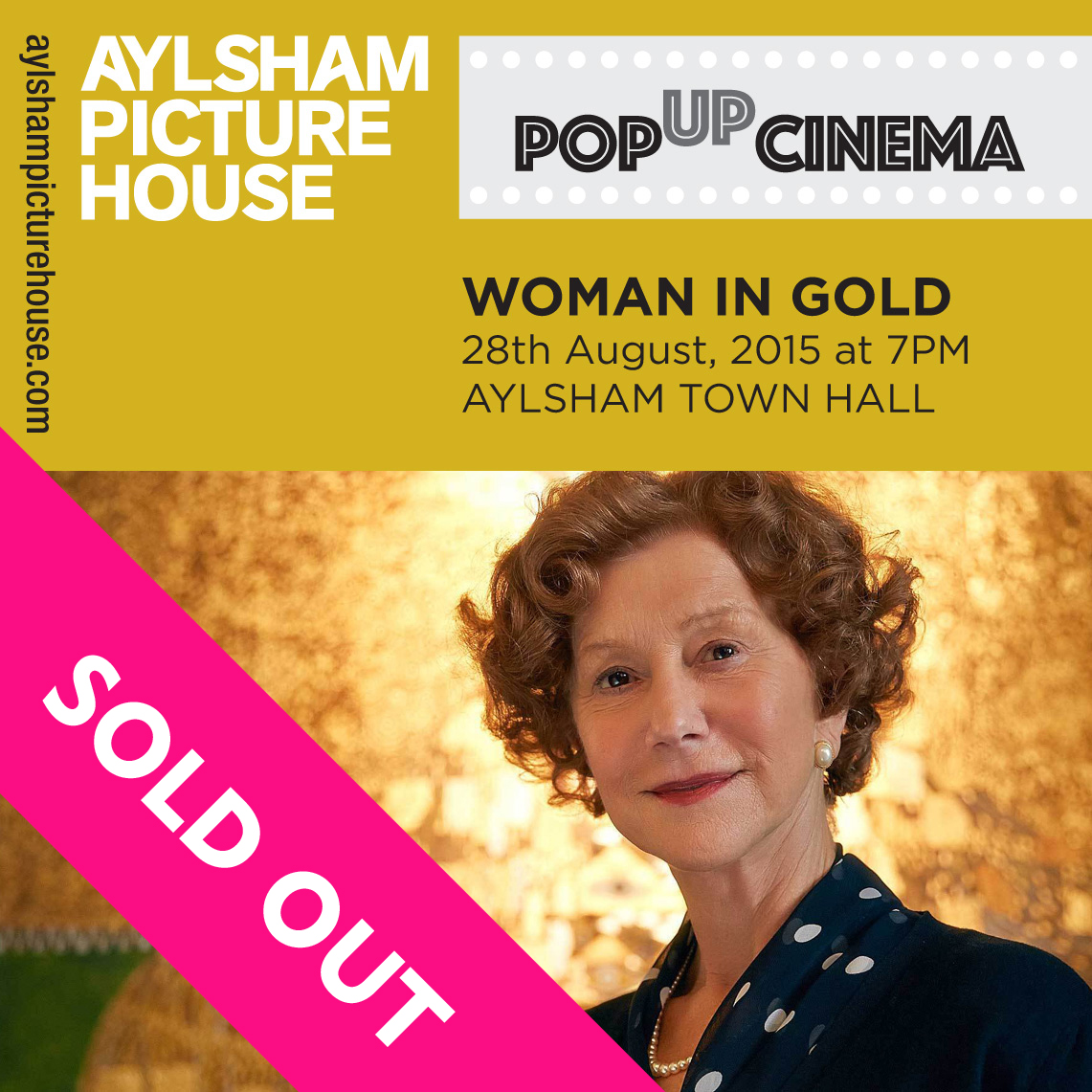 WOMAN IN GOLD – ALL TICKETS NOW SOLD